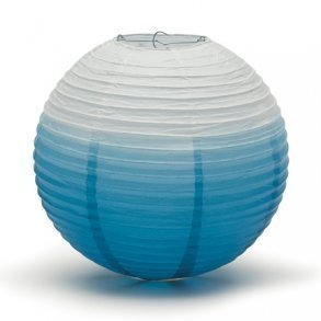 Oasis Blue Ombre Hanging Paper Lantern