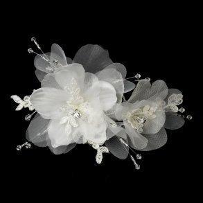 Organza Floral Hair Clip