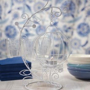 Ornamental Wire Vase With Suspended Centrepiece