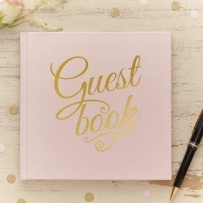 Pale Pink & Gold Foil Wedding Guest Book