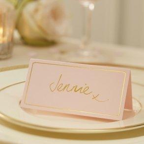 Pale Pink & Gold Foil Place Cards