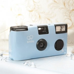 Pastel Blue Single Use Disposable Wedding Camera