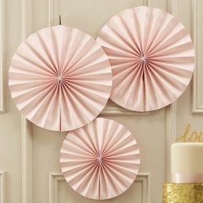 Pastel Pink Pinwheel Fan Decorations