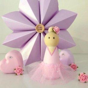 Pastel Pink Ballerina Peg Doll Kids Decor