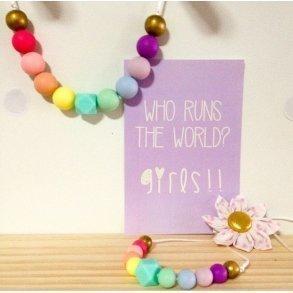 Pastel Rainbow Matching Mummy & Daughter Necklace Set