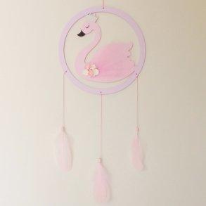 Pastel Wooden Swan Hanging Dream Catcher