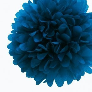 Peacock Blue Tissue Pom Poms - Pack of 4