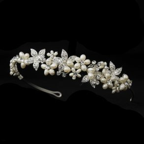 Pearl Accented Floral Headpiece