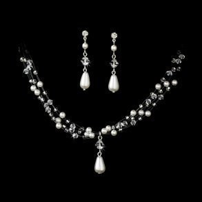Pearl & Crystal Illusion Necklace Set