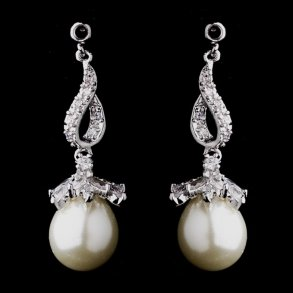 Classic Silver & Pearl Drop Earrings