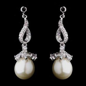 Classic Silver & Pearl Drop Earrings
