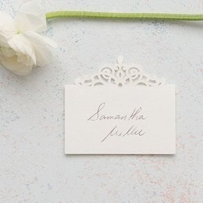 Pearl Romance Laser Embossed Place Cards