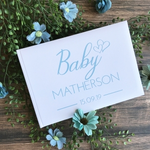 Stylish Personalised Baby Shower Guest Book