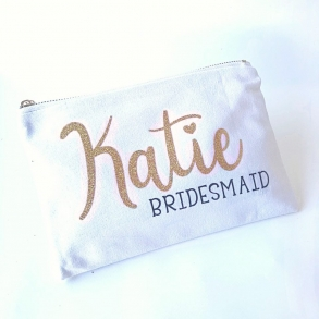 Personalised Bridal Party Cosmetic Bag
