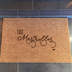 Family Surname Personalised Doormat Gift