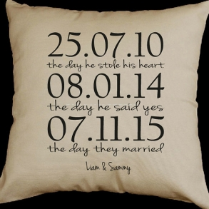 Personalised Gay Couples Wedding Cushion Gift