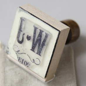 Personalised Initial Rubber Wedding Stamp