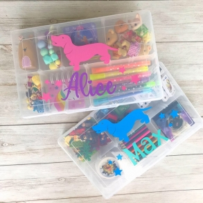 Personalised Kids Activity Travel Box