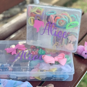 Personalised Kids Hair Accessories Box - 2 Sizes