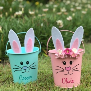 Personalised Metal Easter Buckets