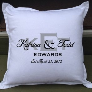 Personalised Monogram Wedding Cushion