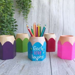 Personalised Pencil Holder Teacher's Gift