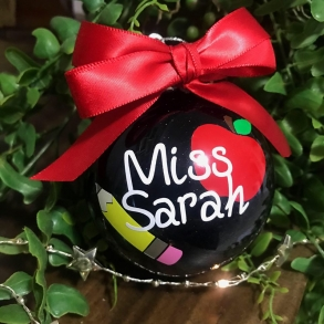 Personalised Teachers Christmas Bauble Gift