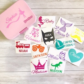 Personalised Vinyl Labels For Kids Lunchboxes