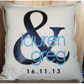 Personalised Wedding Cushions - Style 1