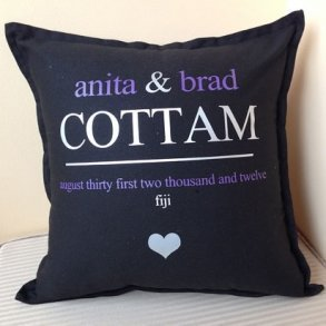 Personalised Wedding Cushions - Style 2