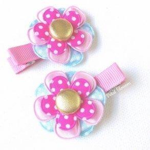 Kids hair accessories kids how divine pink blue fairy flower girls hair clips mightylinksfo