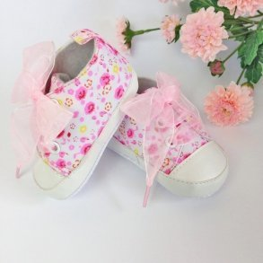 Pink Floral Baby Girl Pre-Walker Shoes
