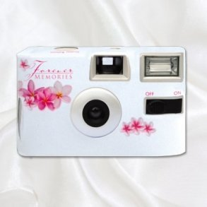 Frangipani Disposable Wedding Camera