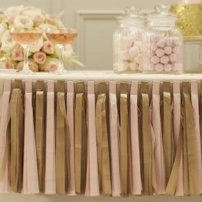 Pink & Gold Tassel Garland