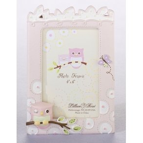 Pink Owl Photo Frame
