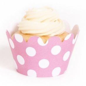 Pink Polka Dot Mini Cupcake Wrappers