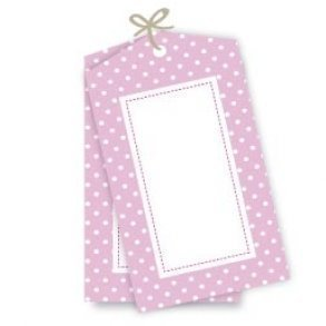 Pink Polkadot Party Gift Tags - Pack of 12