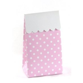 Pink Polkadot Sweet Party Treat Boxes - Pack of 12
