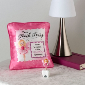 Pink Satin Tooth Fairy Pillow