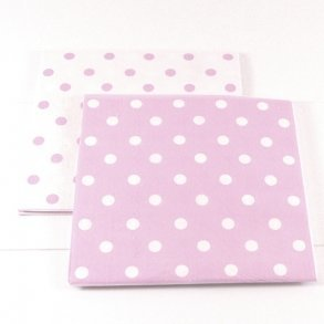 Reversible Pink Polkadot Napkins - Pack of 12