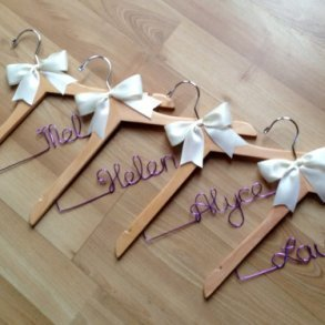 Plain Bridal Coat Hanger With Lilac Wire