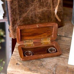 Pocket Size Wooden Wedding Ring Box