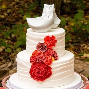 Porcelain Owl Figurine Cake Toppers