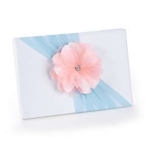 Pretty Pastels Pink & Blue Wedding Guest Book