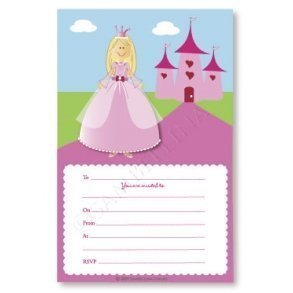 Princess Party Invitations - Pack of 12