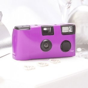Purple Single Use Disposable Wedding Camera