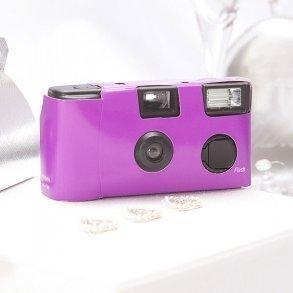 Purple Single Use Disposable Wedding Camera