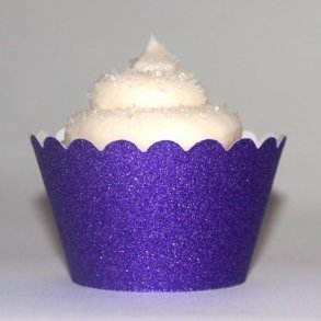 Purple Glitter Cupcake Wrappers