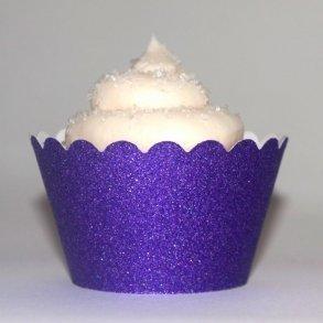 Purple Glitter Cupcake Wrappers