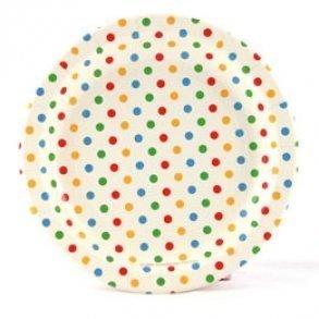 Rainbow Polkadot Plates - Pack of 12